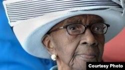 年纪最大的美国人、美国南卡罗来纳州的老妇玛米•里尔登 (Gerontology Research Group website)