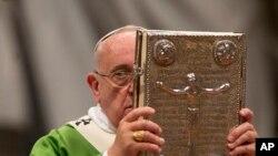 Đức Giáo Hoàng khai mạc Hội nghị 'Thượng Hội Đồng Giám mục về gia đình' tại Vatican, ngày 5/10/2014.