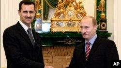 Башар Асад и Владимир Путин Фото из архива.