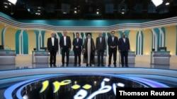 Election debate at a television studio, in Tehran, June 12, 2021.