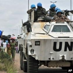 Les forces de l'ONUCI à Abidjan