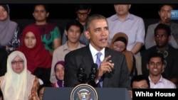 美国总统奥巴马启动东南亚青年领袖倡议(白宫网站视频截图)