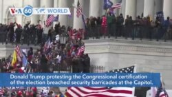 VOA60 Addunyaa - US Capitol on Lockdown as Trump Protesters Breach Congress