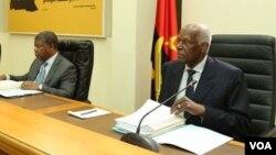 João Lourenço e José Eduardo dos Santos em reunião do MPLA