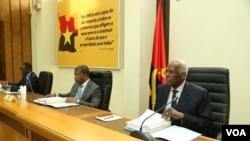 Joao Lourenço e José Eduardo dos Santos em reunião do MPLA