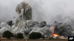 Hayaki bakikirin a garin Kobani