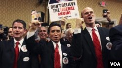 Para pendukung Newt Gingrich di Orlando, Florida (30/1).