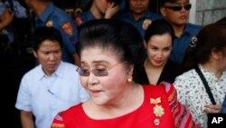Mantan ibu negara Filipina, anggota Kongres Imelda Marcos di Manila, Filipina, 16 Oktober 2018. (Foto: dok).