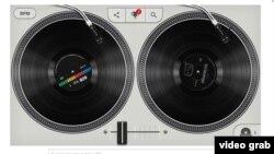 Un gráfico interactivo en honor del hip hop, creado por Cey Adams, permite seleccionar y mezclar conocidas canciones de hip hop.