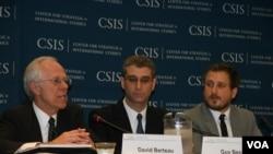 戰略與國際研究中心發佈亞洲國防支出報告 (美國之音記者 鍾辰芳拍攝)