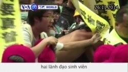 Cảnh sát ẩu đả với người biểu tình ủng hộ dân chủ ở Hong Kong (VOA60)