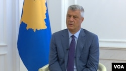Kosovo President Hashim Thaçi, during an interview with VOA Albanian-service. Prishtina. June 17, 2020