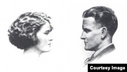 An iconic couple of the 1920s - F Scott and Zelda Fitzgerald