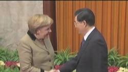 默克尔与中国高层领导人会谈