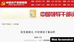 人民网站截图