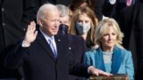 Joe Biden is sworn in as the 46th President of the United States on the West Front of the U.S. Capitol in Washington, U.S., January 20, 2021. REUTERS/Kevin Lamarque