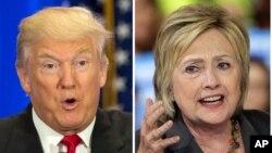 미국 대통령 선거에 출마한 공화당 도널드 트럼프 후보(왼쪽)와 힐러리 클린턴 후보.