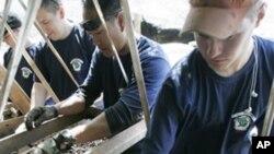 한국전 미군 전사자 유해 발굴작업 (자료사진)