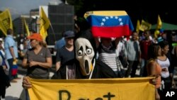 Manifestasyon nan Caracas nan jounen mèkredi 26 oktòb 2016 la pou denonse yon vòt palman an ki te anile yon plan referendum kont gouvènman Prezidan Maduro a.