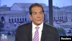 Charles Krauthammer, one of the leading conservative political commentators in the U.S. media, appears on Fox News in this image from video in Washington, released June 21, 2018.