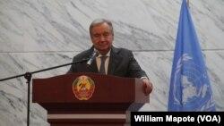 António Guterres está na Beira, Moçambique