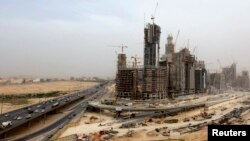 The King Abdullah Financial District, which is currently under construction, is seen near King Fahad Road in the Asahafa area in Riyadh, Saudi Arabia, April 23, 2013.