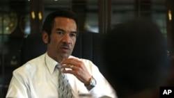 Le président Ian Khama, candidat à sa réélection au Bostwana (AP)