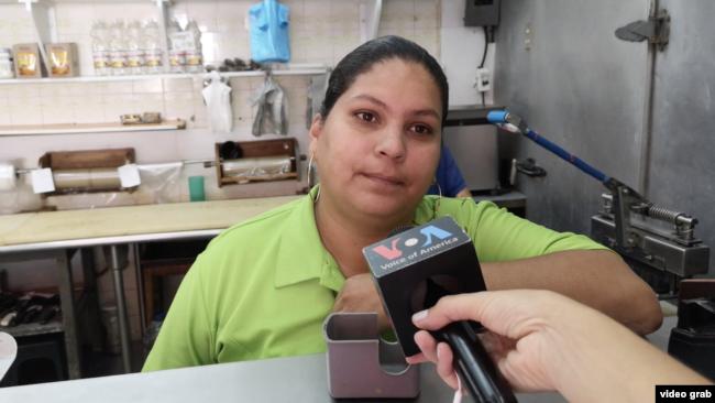 Liseth Rivera, una de las venezolanas afectadas con el apagón. Foto: video grab