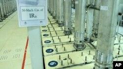 5 Kasım 2019 - İran Atom Enerjisi Kurumu tarafından yayınlanan bu fotoğraf, İran'ın Natanz nükleer tesisinde bulunan ve uranyum zenginleştirmek için kullanılan santrifüj makinalarını gösteriyor.