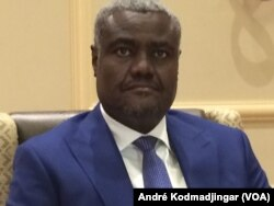 FILE - African Union Commission Chairperson Moussa Faki Mahamat is shown Oct. 21, 2016.