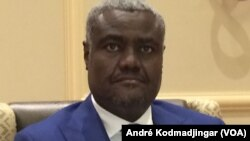 FILE - Moussa Faki Mahamat, the newly elected chairman of the African Union Commission, is shown Oct. 21, 2016. (Andre Kodmadjingar/VOA)