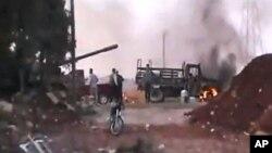 시리아 반군과 정부군의 교전이 계속되고 있는 알레포 시의 교외. (자료사진)