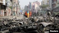 بھارت میں متنازع شہریت بل کے خلاف مظاہروں میں املاک کو بھی نقصان پہنچا تھا۔