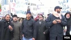 突尼斯人舉行集會