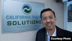 Ông David Dương, tổng giám đốc California Waste Solutions và Vietnam Waste Solutions (ảnh Bùi Văn Phú)