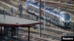 Une plate-forme de la gare de Strasbourg en France, le 21 mai 2014.