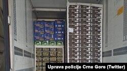 U zajedničkoj akciji Uprave policije i uprave carina spriječeno je krijumčarenje marihuane ka Zapadnoj Evropi. (Foto: Uprava policije Crne Gore.)