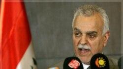 طارق الهاشمی معاون سنی رییس جمهوری عراق در گفتگوی خبری. اربیل ۲۹ آذر ماه ۱۳۹۰