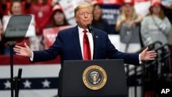 2020年3月2日特朗普总统在北卡罗来纳州夏洛特竞选集会上发表讲话。