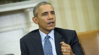 바락 오바마 미국 대통령이 8일 백악관을 방문한 세르지오 마타렐라 이탈리아 대통령과의 면담에서 발언하고 있다.