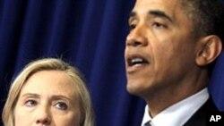 클린턴 미 국무장관의 버마 방문 계획을 발표하는 오바마 미 대통령