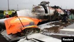 La aerolínea estatal venezolana Conviasa no puede volar a Europa, por accidentes como éste sucedido en 2010, en el que murieron 17 personas .