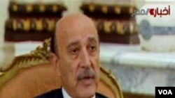 Wakil Presiden Mesir, Omar Suleiman saat memberikan pernyataan di televisi, Kamis 3 Februari 2011.