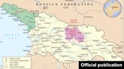 Gürcüstan Respublikasının xəritəsi
