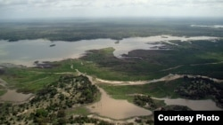 FILE - An aerial view of the Selous Game Reserve, Tanzania. (Wikimedia)