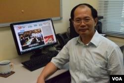 香港本土派學者陳雲表示,本土派的競選議題針對年輕選民。(美國之音湯惠芸)