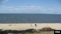 貝加爾湖畔。(美國之音白樺拍攝)