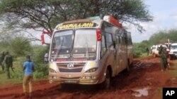Otoobusii Al-Shabaab Sadaasaa 2014 Keenyaa Kaabaatti hadhan.