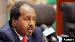 FILE - Somali President Hassan Sheikh Mohamud.