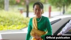 ႏိုင္ငံေတာ္အတိုင္ပင္ပုဂိၢဳလ္ ေဒၚေအာင္ဆန္းစုၾကည္ (Myanmar President Office)